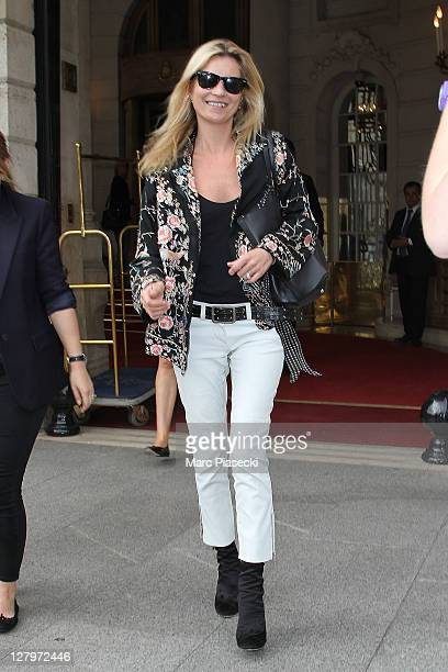 Supermodel Kate Moss is sighted at the 'RITZ' hotel on October 4 2011 in Paris France