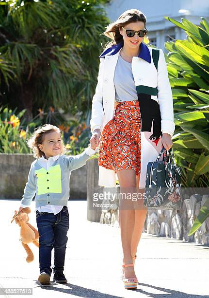 Supermodel Miranda Kerr and son Flynn attend a baby shower for friend Annie Kelly in Balmoral in Sydney Australia