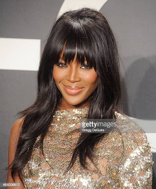 Supermodel Naomi Campbell arrives at the Tom Ford Autumn/Winter 2015 Womenswear Collection Presentation at Milk Studios on February 20 2015 in Los...