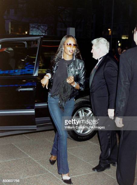 Supermodel Naomi Campbell arriving for the UK premiere of 'Bridget Jones Diary' at the Empire in London's Leicester Square