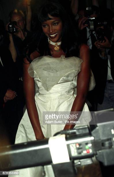 Supermodel Naomi Campbell leaving Books Etc in London's Charing Cross Road after the signing session to launch her book single and album