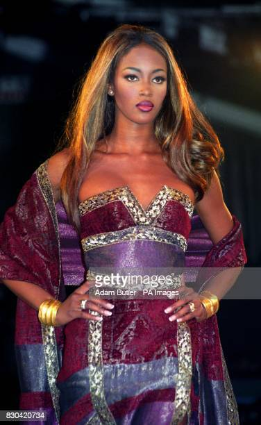 Supermodel Naomi Campbell on the catwalk at the British Fashion Awards London