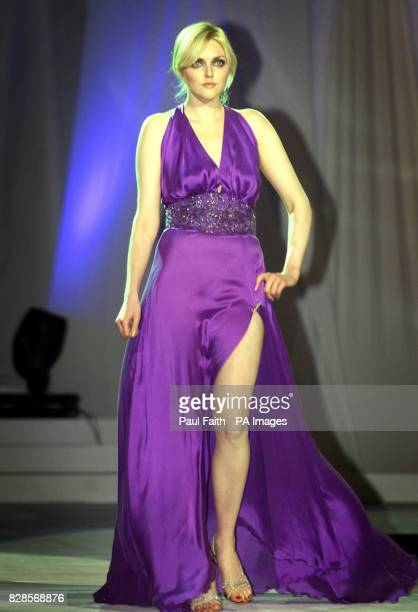 Supermodel Sophie Dahl wears an outfit by Synan O'Mahony during the Triology fashion show