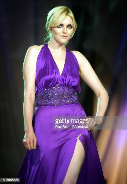Supermodel Sophie Dahl wears an outfit by Synan O'Mahony during the Triology fashion show in Dublin