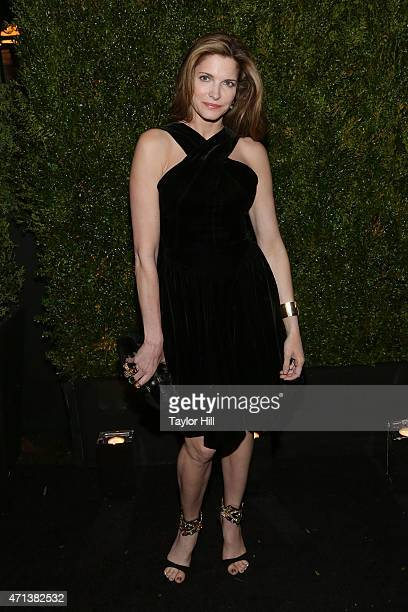 Supermodel Stephanie Seymour attends the 2015 Tribeca Film Festival Chanel Artists' Dinner at Balthazar on April 20 2015 in New York City