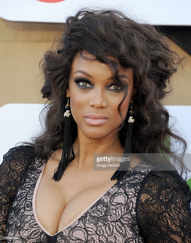Supermodel Tyra Banks arrives at the CBS/CW/Showtime Television Critic Association's summer press tour party at 9900 Wilshire Blvd on July 29, 2013 in Beverly Hills, California.