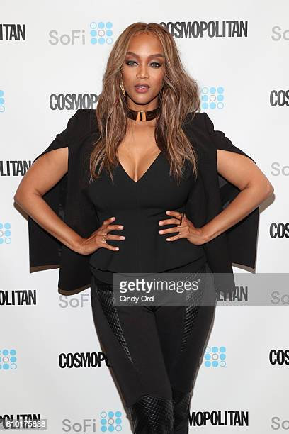 Supermodel Tyra Banks attends Cosmopolitan Fun Fearless Money 2016 on September 24 2016 at Cedar Lake in New York City