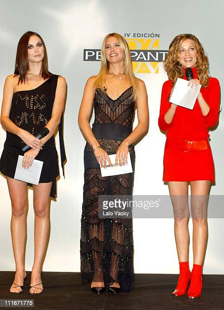 Supermodel Valeria Mazza and guests during Supermodel Valeria Mazza Hosts 2003 Edition Pantene Hair Awards at Telson Studios in Madrid Spain