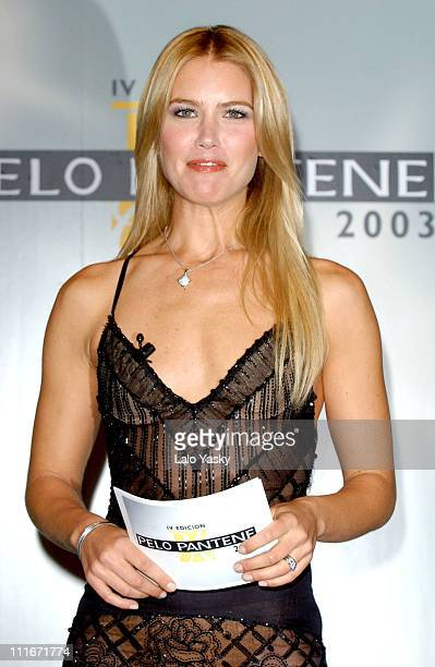 Supermodel Valeria Mazza Hosts during Supermodel Valeria Mazza Hosts 2003 Edition Pantene Hair Awards at Telson Studios in Madrid Spain