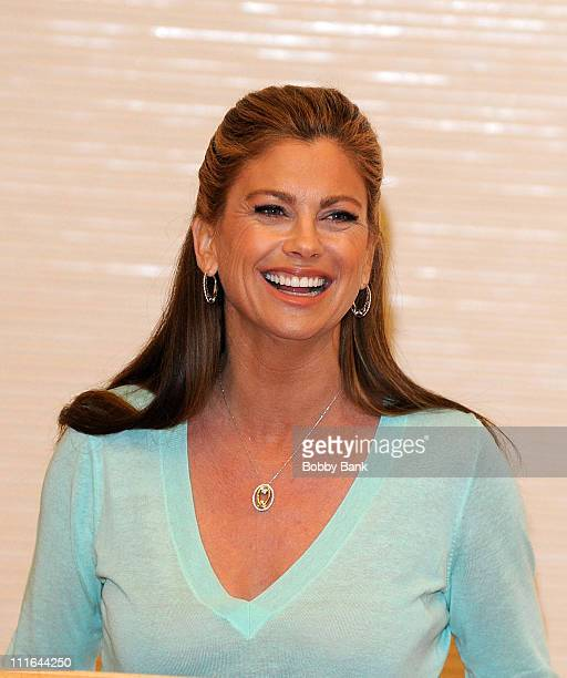 Supermodel/actress Kathy Ireland promotes 'Real Solutions for Busy Moms' at the Ridgewood Public Library on April 8 2009 in Ridgewood New Jersey