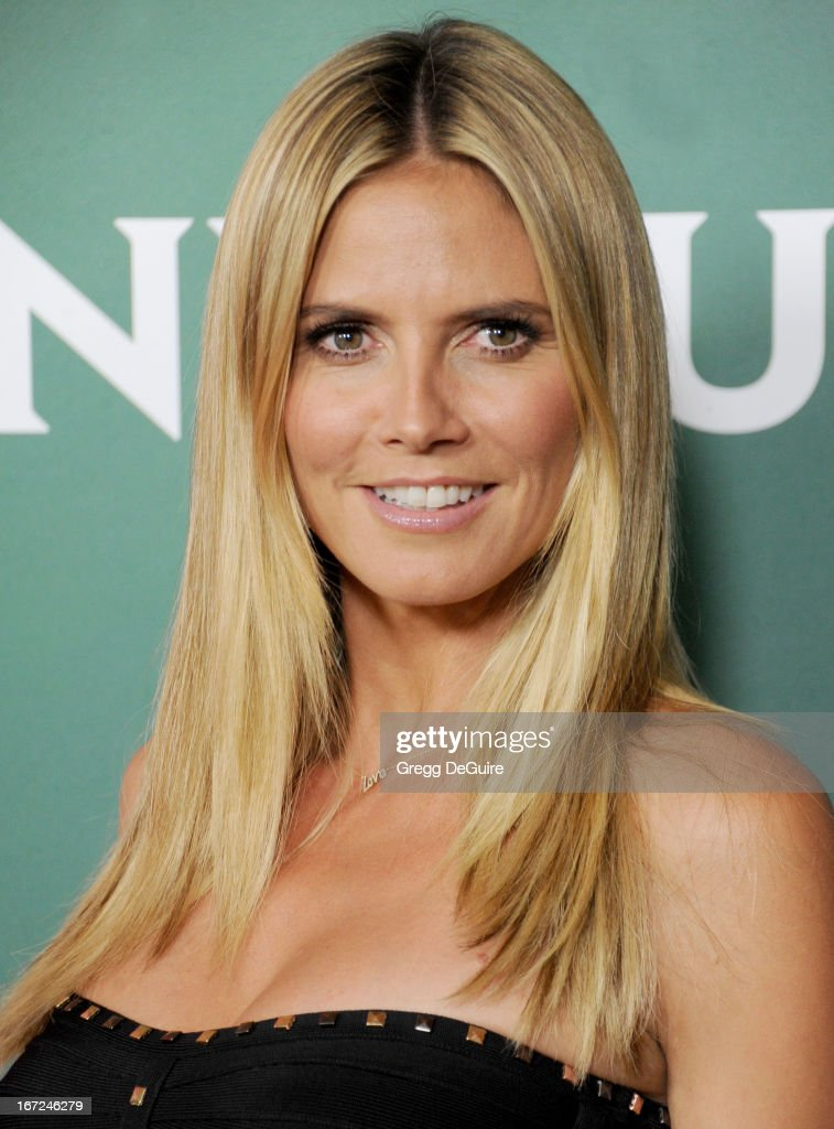 Supermodel/TV personality <a gi-track='captionPersonalityLinkClicked' href=/galleries/search?phrase=Heidi+Klum&family=editorial&specificpeople=178954 ng-click='$event.stopPropagation()'>Heidi Klum</a> arrives at the 2013 NBC Summer Press Day at The Langham Huntington Hotel and Spa on April 22, 2013 in Pasadena, California.