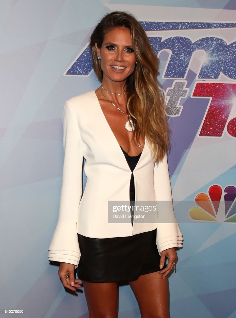 Supermodel/TV personality Heidi Klum attends NBC's 'America's Got Talent' Season 12 live show at Dolby Theatre on September 12, 2017 in Hollywood, California.