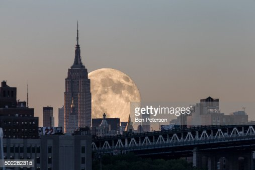 Supermoon 2014 : Stock Photo