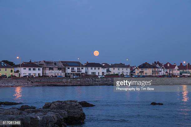 Supermoon over Wales