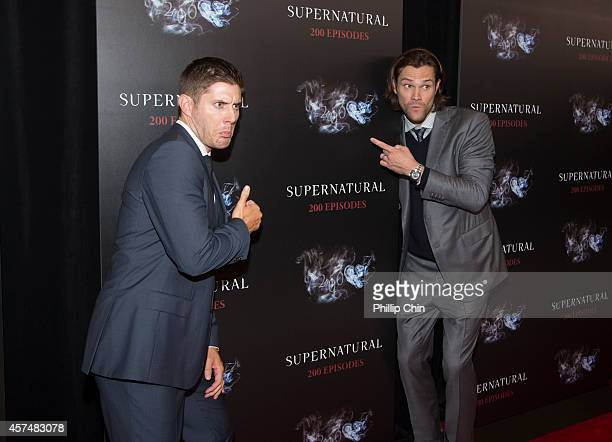 'Supernatural' actors Jensen Ackles and Jared Padalecki attend the 'Supernatural' 200th episode celebration at the Fairmont Pacific Rim Hotel on...