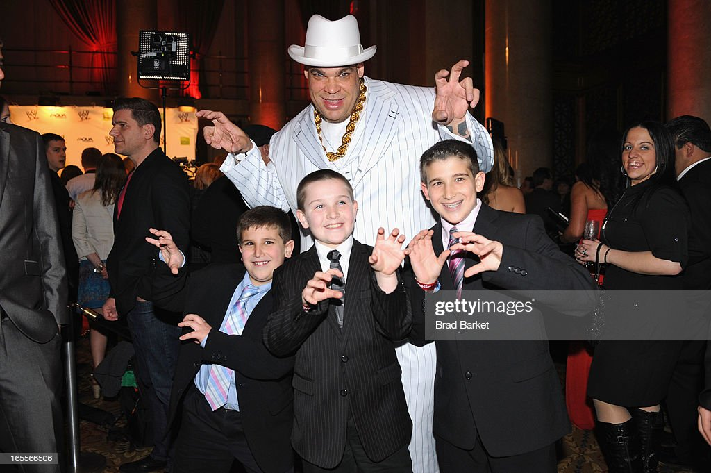 WWE Superstar Brodus Clay and guests attend WWE Superstars for Sandy Relief at Cipriani, Wall Street on April 4, 2013 in New York City.