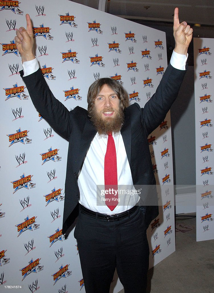 Superstar Daniel Bryan attends the WWE SummerSlam Press Conference on August 13, 2013 at the Beverly Hills Hotel in Beverly Hills, California.