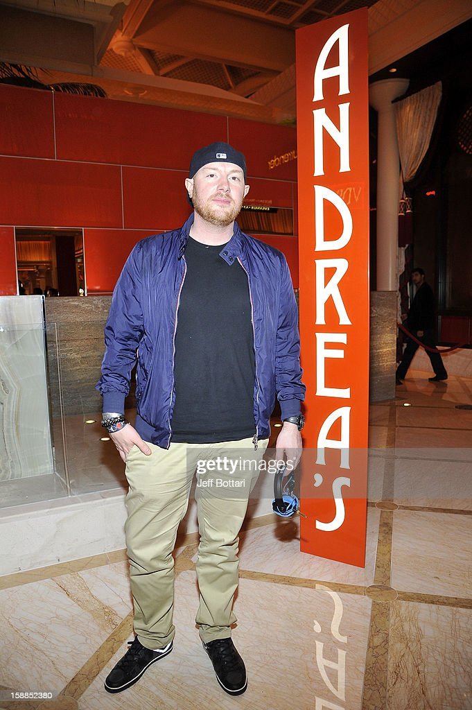EDM superstar Eric Prydz enjoyed dinner tonight at Andrea's, the hip new Asian dining concept in Encore Las Vegas which opened this weekend, before his New Years Eve set at the Surrender Nightclub at Encore Las Vegas on December 31, 2012 in Las Vegas, Nevada.
