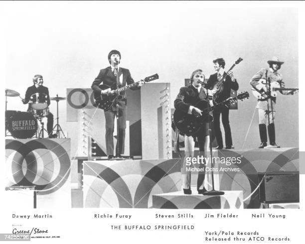 Superstar group 'Buffalo Springfield' perform on the 'Smothers Brothers Comedy Hour' TV show in 1967 Dewey Martin Richie Furay Stephen Stills Jim...