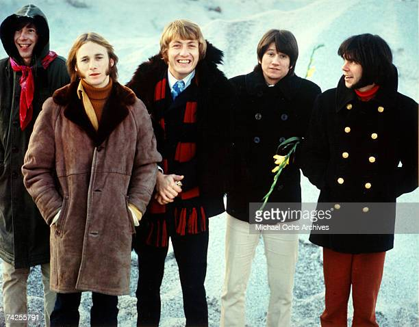 Superstar group 'Buffalo Springfield' pose for a portrait in 1967 Bruce Palmer Stephen Stills Dewey Martin Richie Furay Neil Young