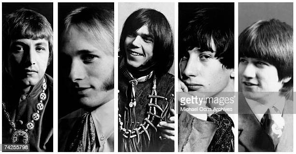 Superstar group 'Buffalo Springfield' pose for a portrait in 1967 Dewey Martin Stephen Stills Neil Young Richie Furay Bruce Palmer