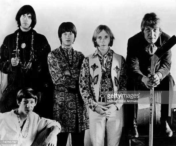 Superstar group 'Buffalo Springfield' pose for a portrait in 1967 Neil Young Richie Furay Stephen Stills Dewey Martin Bruce Palmer