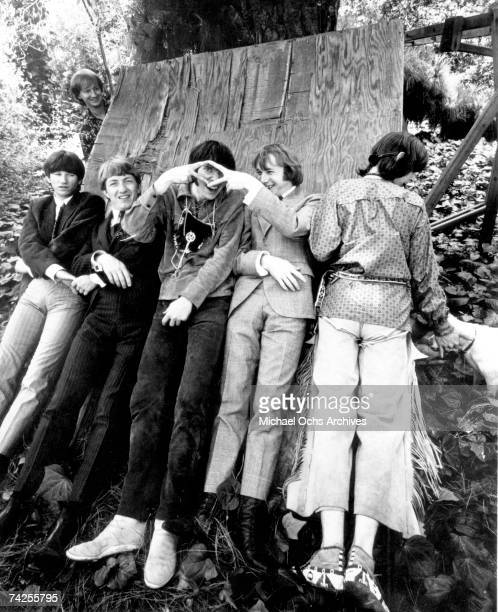 Superstar group 'Buffalo Springfield' pose for a portrait in 1967 Richie Furay Dewey Martin Neil Young Stephen Stills Bruce Palmer