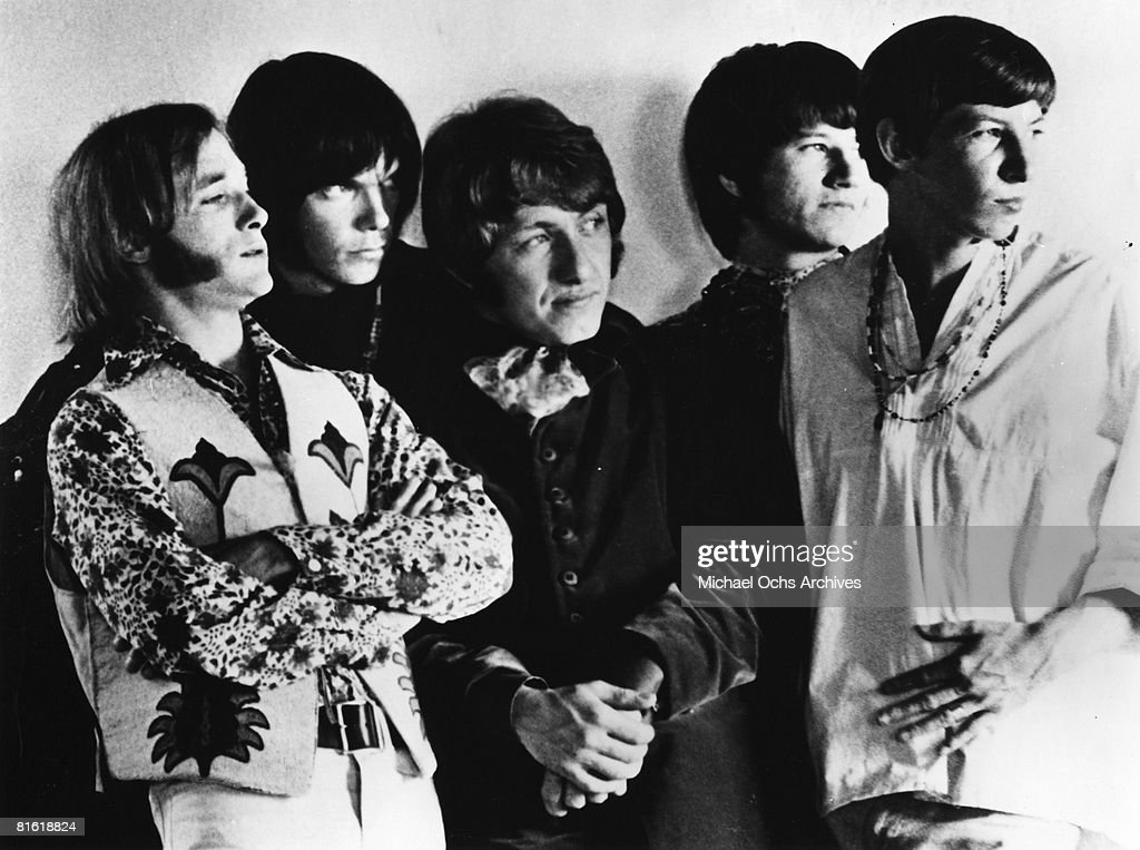 Superstar group 'Buffalo Springfield' pose for a portrait in 1967. (L-R) Stephen Stills, Neil Young, Dewey Martin, Richie Furay, Bruce Palmer.