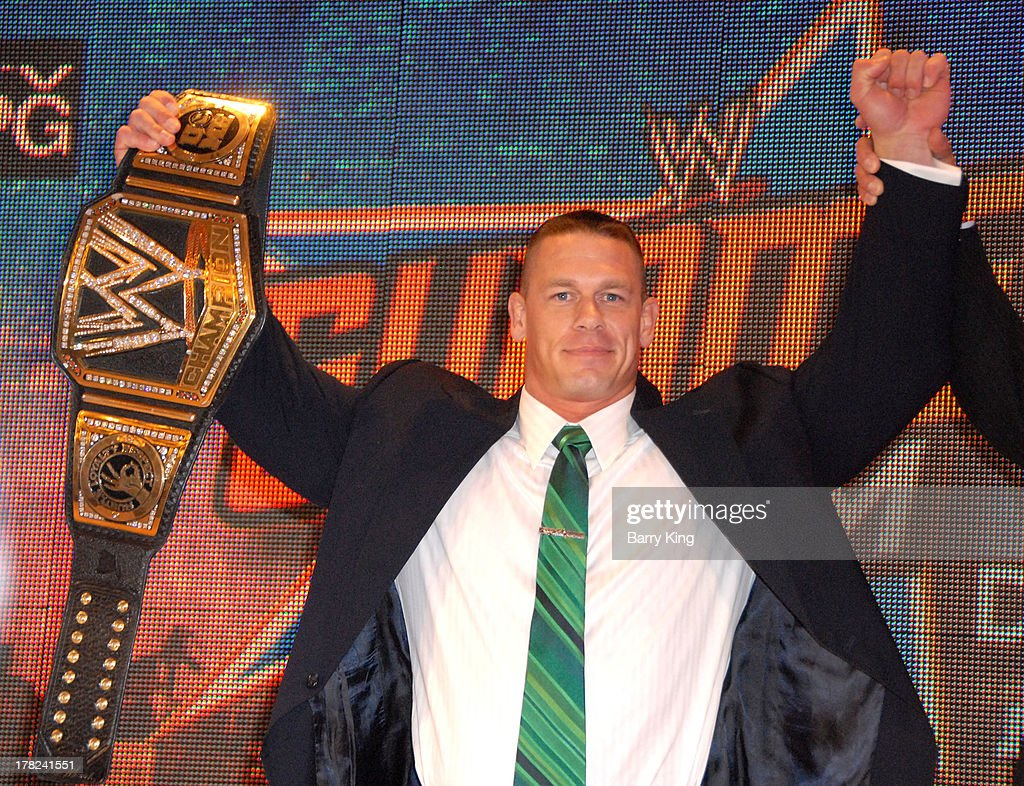 Superstar John Cena attends the WWE SummerSlam Press Conference on August 13, 2013 at the Beverly Hills Hotel in Beverly Hills, California.