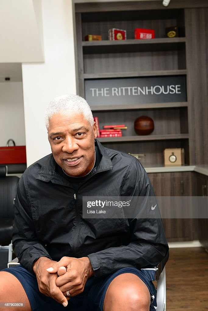 Superstar, <a gi-track='captionPersonalityLinkClicked' href=/galleries/search?phrase=Julius+Erving&family=editorial&specificpeople=202966 ng-click='$event.stopPropagation()'>Julius Erving</a> at The Rittenhouse Hotel on September 12, 2015 in Philadelphia, Pennsylvania.