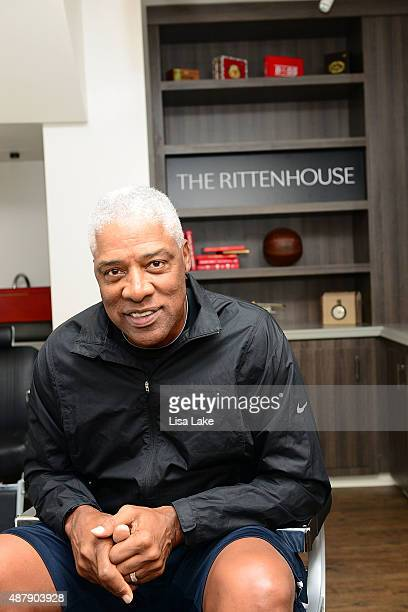 Superstar Julius Erving at The Rittenhouse Hotel on September 12 2015 in Philadelphia Pennsylvania