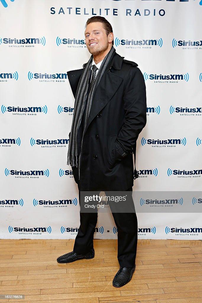 Superstar Mike 'The Miz' Mizanin visits the SiriusXM Studios on March 6, 2013 in New York City.