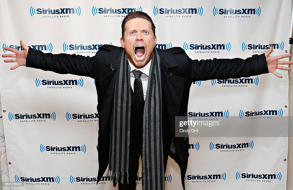 Superstar Mike '<a gi-track='captionPersonalityLinkClicked' href=/galleries/search?phrase=The+Miz&family=editorial&specificpeople=4420661 ng-click='$event.stopPropagation()'>The Miz</a>' Mizanin visits the SiriusXM Studios on March 6, 2013 in New York City.