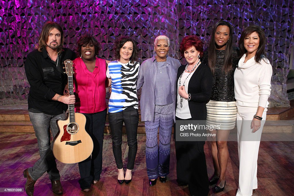 Superstar music artists <a gi-track='captionPersonalityLinkClicked' href=/galleries/search?phrase=Billy+Ray+Cyrus&family=editorial&specificpeople=213601 ng-click='$event.stopPropagation()'>Billy Ray Cyrus</a> & <a gi-track='captionPersonalityLinkClicked' href=/galleries/search?phrase=Dionne+Warwick&family=editorial&specificpeople=213111 ng-click='$event.stopPropagation()'>Dionne Warwick</a> visit the ladies on THE TALK, Wednesday, February, 26, 2014 on the CBS Television Network. From left, <a gi-track='captionPersonalityLinkClicked' href=/galleries/search?phrase=Sheryl+Underwood&family=editorial&specificpeople=778885 ng-click='$event.stopPropagation()'>Sheryl Underwood</a>, <a gi-track='captionPersonalityLinkClicked' href=/galleries/search?phrase=Sara+Gilbert&family=editorial&specificpeople=585732 ng-click='$event.stopPropagation()'>Sara Gilbert</a>, <a gi-track='captionPersonalityLinkClicked' href=/galleries/search?phrase=Dionne+Warwick&family=editorial&specificpeople=213111 ng-click='$event.stopPropagation()'>Dionne Warwick</a>, <a gi-track='captionPersonalityLinkClicked' href=/galleries/search?phrase=Billy+Ray+Cyrus&family=editorial&specificpeople=213601 ng-click='$event.stopPropagation()'>Billy Ray Cyrus</a>, <a gi-track='captionPersonalityLinkClicked' href=/galleries/search?phrase=Sharon+Osbourne&family=editorial&specificpeople=203094 ng-click='$event.stopPropagation()'>Sharon Osbourne</a>, <a gi-track='captionPersonalityLinkClicked' href=/galleries/search?phrase=Aisha+Tyler&family=editorial&specificpeople=202262 ng-click='$event.stopPropagation()'>Aisha Tyler</a> and <a gi-track='captionPersonalityLinkClicked' href=/galleries/search?phrase=Julie+Chen&family=editorial&specificpeople=206213 ng-click='$event.stopPropagation()'>Julie Chen</a>, shown.