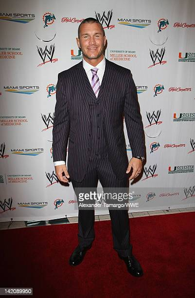 Superstar Randy Orton attends WrestleMania Premiere Party A Celebration of Miami Art and Fashion on March 29 2012 in Miami Beach Florida