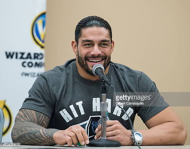 WWE superstar Roman Reigns attends day 1 of Wizard World Comic Con at Pennsylvania Convention Center on May 7 2015 in Philadelphia Pennsylvania