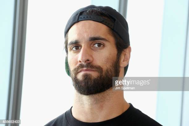 Superstar Seth Rollins attends the WWE Superstars Surprise MakeAWish Families at One World Observatory on August 19 2017 in New York City