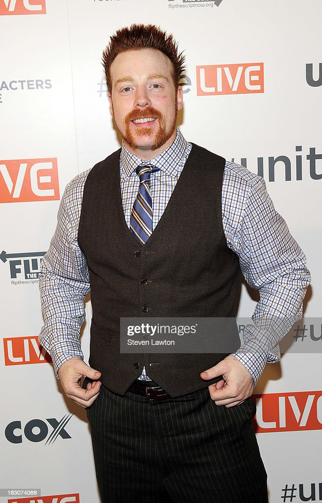 Superstar <a gi-track='captionPersonalityLinkClicked' href=/galleries/search?phrase=Sheamus+-+Wrestler&family=editorial&specificpeople=12951687 ng-click='$event.stopPropagation()'>Sheamus</a> arrives at 'UniteLIVE: The Concert to Rock Out Bullying' at the Thomas & Mack Center on October 3, 2013 in Las Vegas, Nevada.