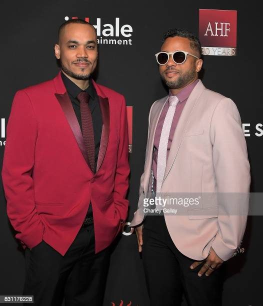 Superstar Storyteller Award winners Deondray Gossfield and Quincy LeNear Gossfield attend AIDS Healthcare Foundation iNHale Entertainment Partner To...