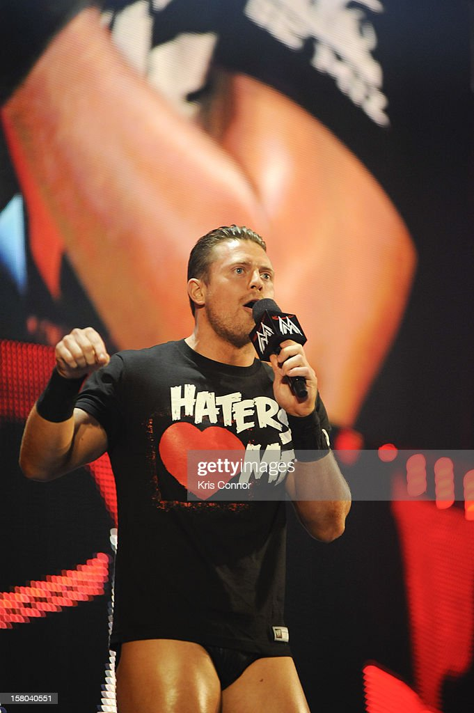 WWE Superstar The Miz performs with Kermit the frog and Ms Piggy during the 10th anniversary of WWE Tribute to the Troops at Norfolk Scope Arena on December 9, 2012 in Norfolk, Virginia.