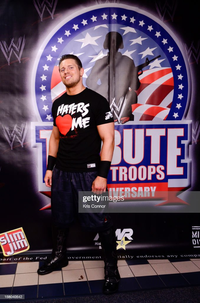 WWE Superstar <a gi-track='captionPersonalityLinkClicked' href=/galleries/search?phrase=The+Miz&family=editorial&specificpeople=4420661 ng-click='$event.stopPropagation()'>The Miz</a> poses for a photo during 10th anniversary of WWE Tribute to the Troops at Norfolk Scope Arena on December 9, 2012 in Norfolk, Virginia.