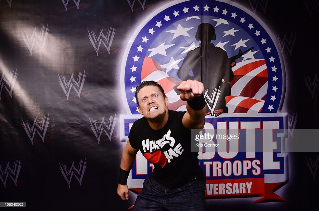 WWE Superstar The Miz poses for a photo during 10th anniversary of WWE Tribute to the Troops at Norfolk Scope Arena on December 9, 2012 in Norfolk, Virginia.