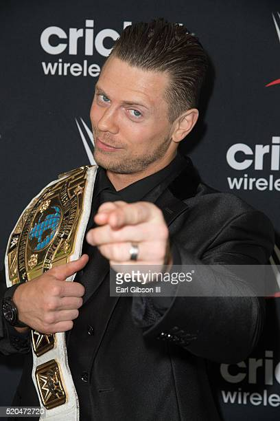 Superstar The Miz poses for photos before meeting and greeting fans on April 11 2016 in Long Beach California