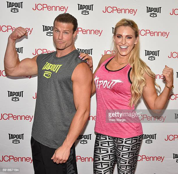 Superstars Dolph Ziggler And Charlotte Meet Greet at JCPenney on August 18 2016 in New York City