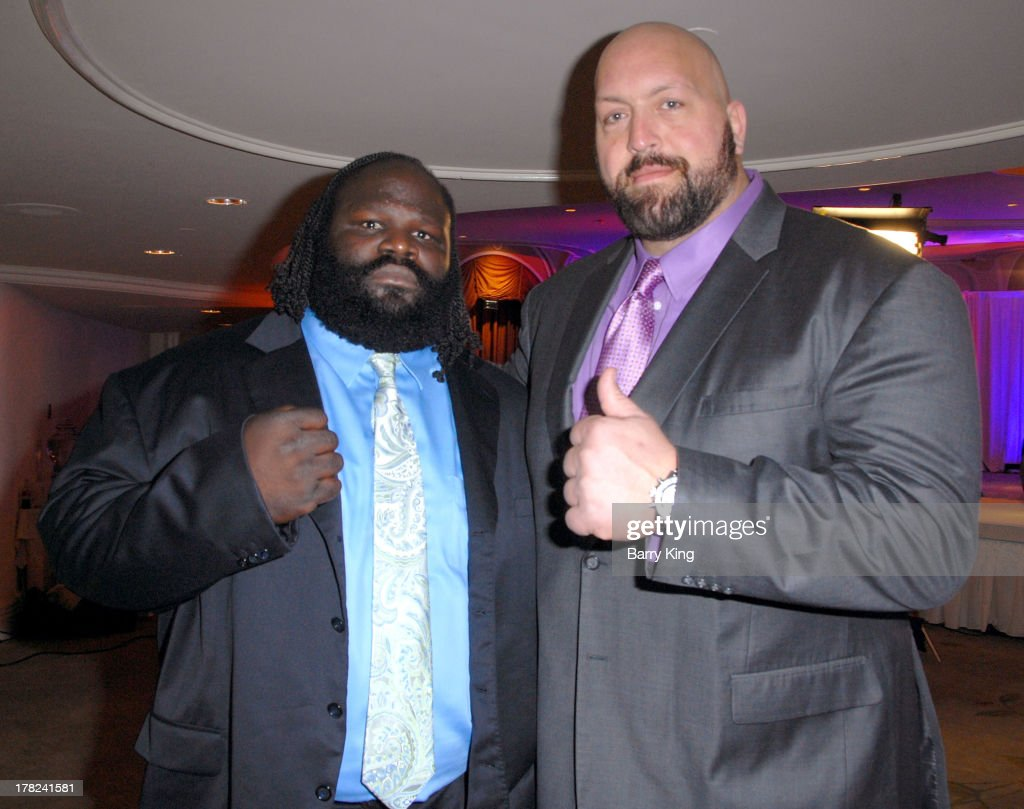 Superstars Mark Henry (L) and Big Show attend the WWE SummerSlam Press Conference on August 13, 2013 at the Beverly Hills Hotel in Beverly Hills, California.