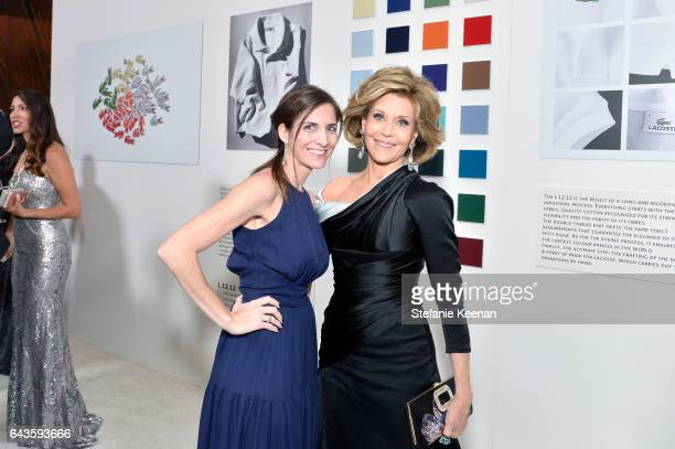 Supervising Producer Sarah Cowperthwaite and actor Jane Fonda attend The 19th CDGA with Presenting Sponsor LACOSTE at The Beverly Hilton Hotel on...