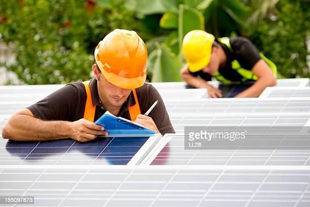 Supervising solar panels