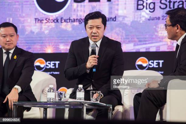 Suphachai Chearavanont chief executive of Charoen Pokphand Group Co center speaks during the Thailand's Big Strategic Move forum in Bangkok Thailand...