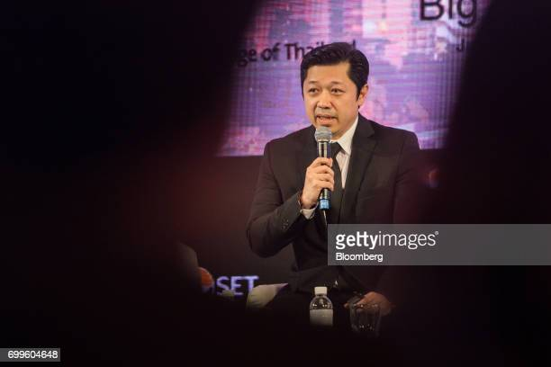 Suphachai Chearavanont chief executive of Charoen Pokphand Group Co speaks during the Thailand's Big Strategic Move forum in Bangkok Thailand on...