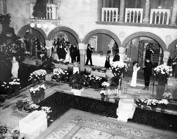 A supper dance takes places in the historic palace courtyard of the Isabella Stewart Gardner Museum in Boston on Oct 25 1963
